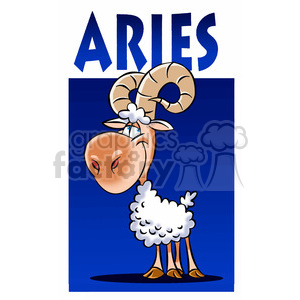 horoscope aries ram clipart. Royalty-free image # 395121
