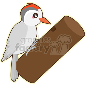 Woodpecker cartoon character vector clip art image clipart. Royalty-free image # 395250