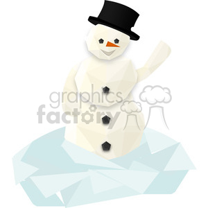 snowman cartoon character vector clip art image geometric clipart. Royalty-free image # 395270