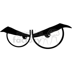 Royalty Free RF Clipart Illustration Black And White Angry Cartoon Eyes clipart. Royalty-free image # 395962