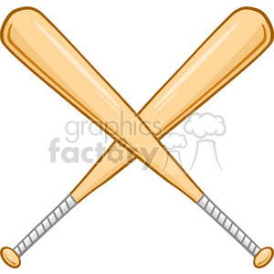 Two Crossed Baseball Bats clipart. Commercial use image # 396073