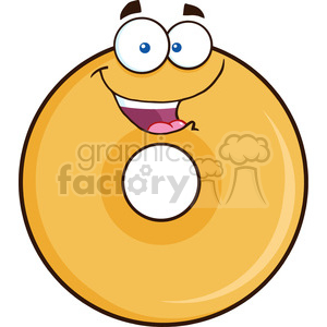 8645 Royalty Free RF Clipart Illustration Happy Donut Cartoon Character Vector Illustration Isolated On White clipart. Royalty-free image # 396745