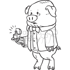 pig ring vector RF clip art images clipart. Royalty-free image # 397108