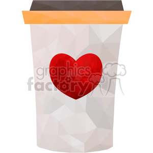 Coffee cup triangle art geometry geometric polygon vector graphics RF clip art images clipart. Royalty-free image # 397322