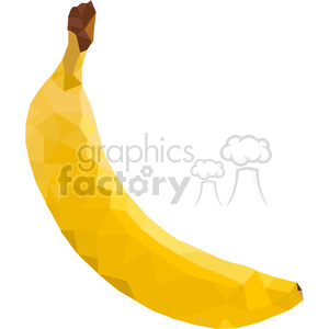 Banana  triangle art geometric polygon vector graphics RF clip art images clipart. Royalty-free image # 397342