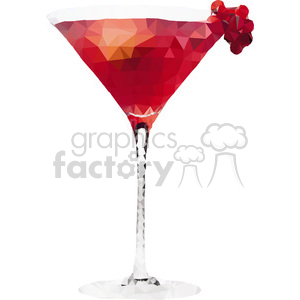 geometry polygons martini glass drink party dinner
