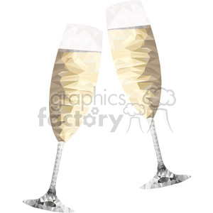 geometry polygons wine champagne cheers glasses new+years party celebration triangle+art