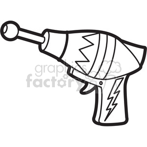 toy space gun cartoon vector image outline clipart. Commercial use image # 397930
