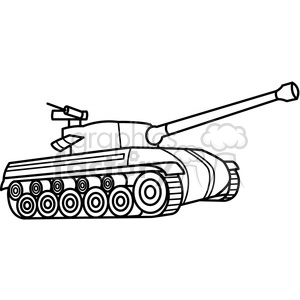 tank outline clipart. Commercial use image # 397980