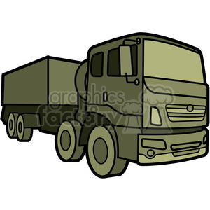 military armored supply vehicle clipart. Royalty-free image # 397990