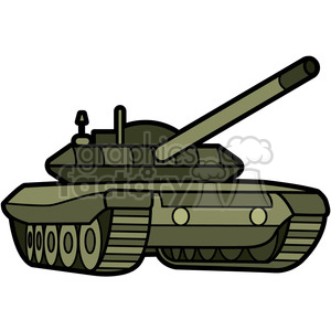 military armored tank clipart. Royalty-free image # 398000