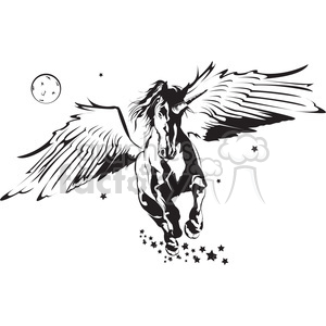 flying unicorn clipart. Royalty-free image # 398020
