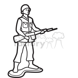 outline of toy infantry soldier illustration graphic clipart. Royalty-free image # 398040