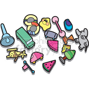 messy kids room illustration graphic clipart. Commercial use image # 398050