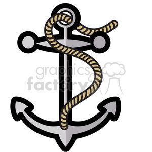 small anchor design illustration graphic clipart. Royalty-free image # 398060