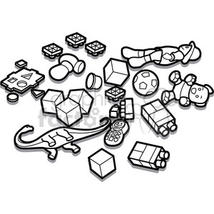 outline of toy illustration graphic clipart. Royalty-free image # 398070