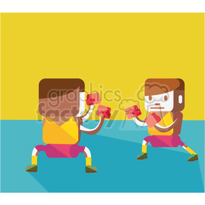olympic boxing sports characters illustration clipart. Royalty-free image # 398120