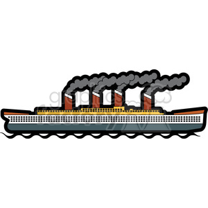 large ship in the ocean clipart. Commercial use image # 398130