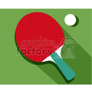 sports equipment table tennis ping pong illustration clipart. Commercial use image # 398160