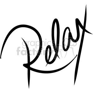 relax calligraphy lettering clipart. Commercial use image # 398170