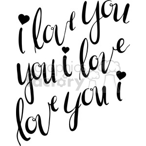 typography calligraphy words design type quotes I+love+you