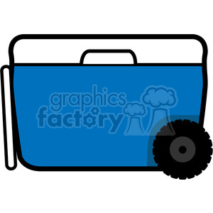 blue wheeled cooler icon clipart. Royalty-free image # 398210