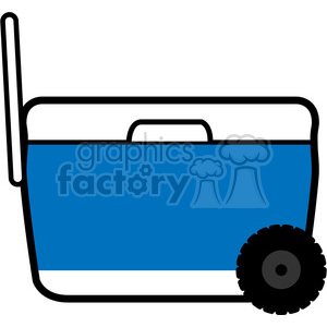 blue pull wheeled cooler icon clipart. Royalty-free image # 398230