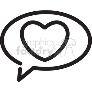 chat box icon with heart clipart. Commercial use image # 398375