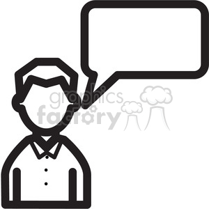 social media man chat icon clipart. Royalty-free image # 398415