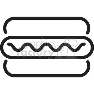 icon black+white symbol symbols hot+dog food