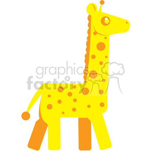 Yellow Giraffe vector image RF clip art clipart. Royalty-free image # 398452