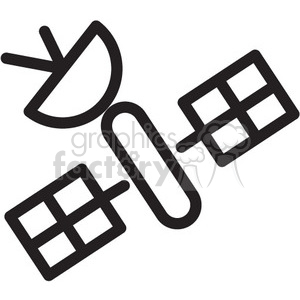 satellite vector icon clipart. Royalty-free image # 398472