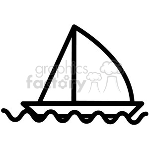 sailboat in water vector icon clipart. Royalty-free image # 398542