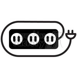 icons black+white vinyl+ready symbols outline energy power electric strip  volt voltage electricity