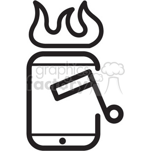 hot music playlist vector icon clipart. Royalty-free image # 398578