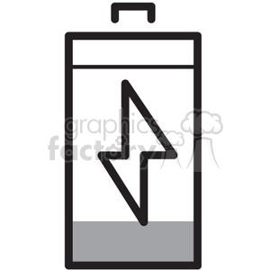 low battery vector icon clipart. Royalty-free image # 398583