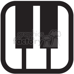 piano keys vector icon