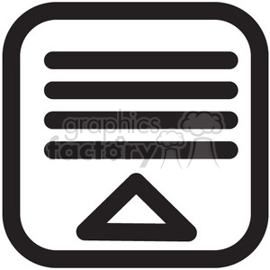 collapse menu vector icon clipart. Royalty-free image # 398626