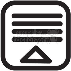 collapse menu vector icon