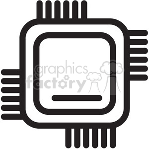 cpu computer chip vector icon clipart. Royalty-free image # 398650