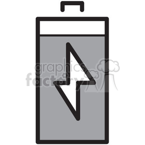 full battery vector icon clipart. Commercial use image # 398680
