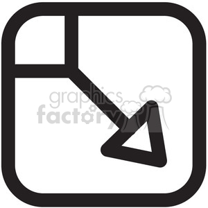 minimize close vector icon clipart. Royalty-free image # 398685
