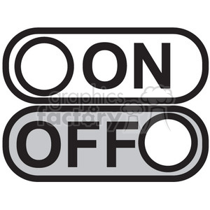 on off vector icon clipart. Commercial use image # 398705