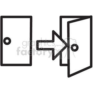 door vector icon clipart. Royalty-free image # 398735