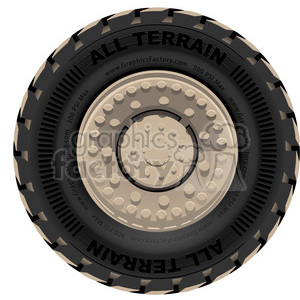 large tire vector clipart. Royalty-free image # 398815