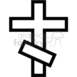 orthodox cross vector icon clipart. Royalty-free image # 398821