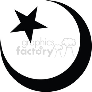 islam star and crescent symbol vector icon clipart. Commercial use icon # 398831
