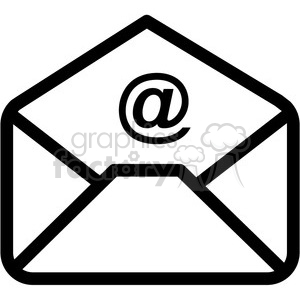 email vector icon clipart. Commercial use image # 398861