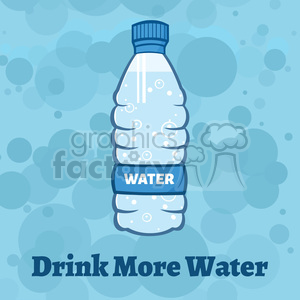 royalty free rf clipart illustration water plastic bottle cartoon illustratoion vector illustration with background with text clipart. Royalty-free image # 398891