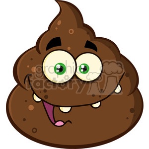 cartoon poo poop stink stinky defecate waste smelly pile